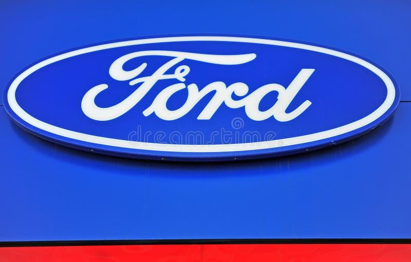 Логотип корпорации Форда стоковые изображения rf