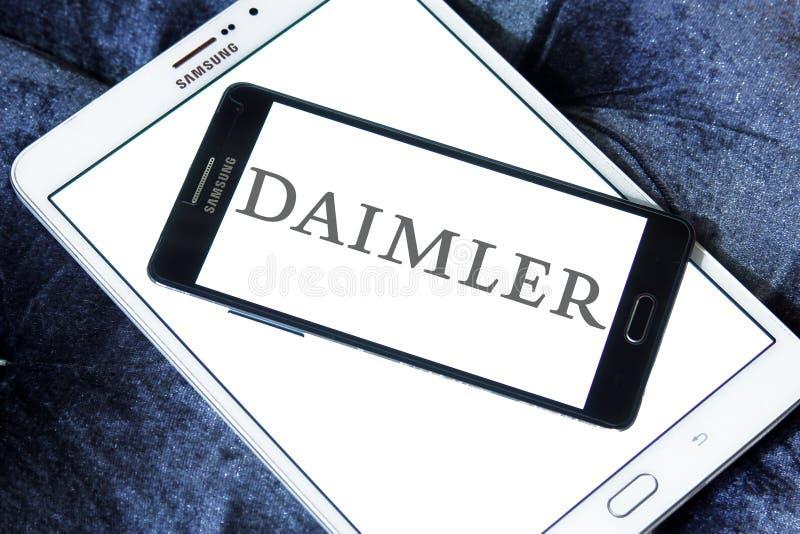 Логотип корпорации Daimler автомобильный стоковое изображение