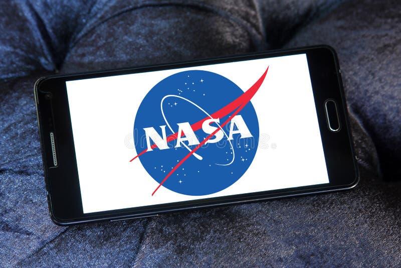 Логотип космического агентства NASA стоковое изображение