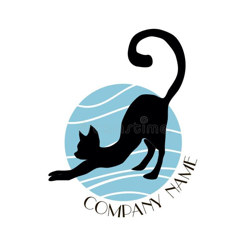 Логотип кота стоковое изображение