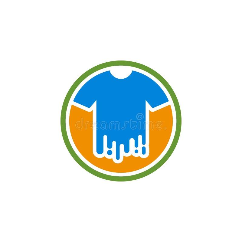 Логотип краски футболки иллюстрация вектора