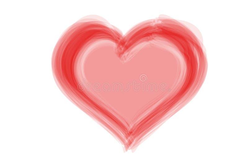 Логотип красного сердца на белом фоне Иллюстрация стоковое изображение