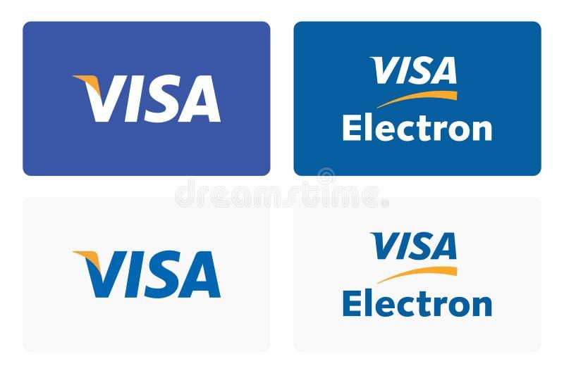 Логотип кредитной карточки visa бесплатная иллюстрация