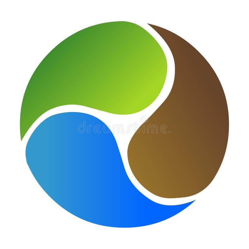 Логотип круга, вектор земли глобуса Абстрактный значок логотипа глобуса бесплатная иллюстрация