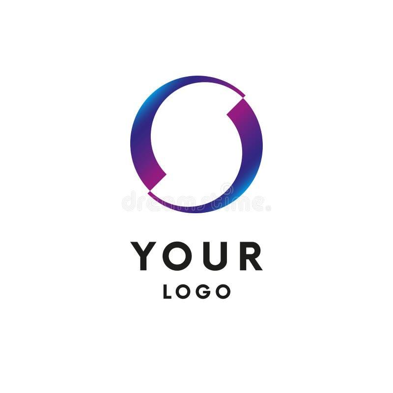 Логотип круга дела абстрактный логотип вектор иллюстрация штока
