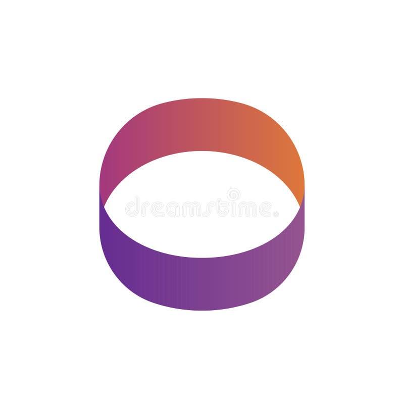 Логотип круга или логотип глаза форменный иллюстрация вектора