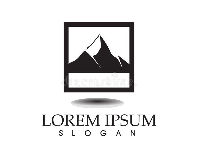 Логотип ландшафта природы горы и шаблон значков символов бесплатная иллюстрация