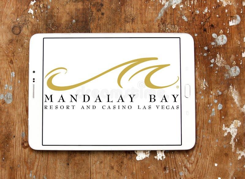 Логотип Лас-Вегас курорта и казино залива Мандалая стоковые фотографии rf