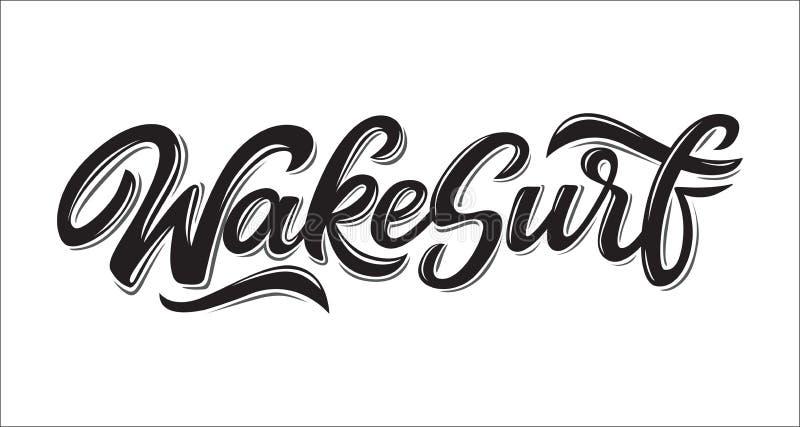 Логотип литерности Wakesurf стоковые изображения