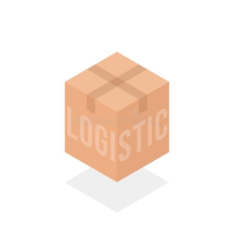 Логотип логистической коробки простой равновеликий иллюстрация штока
