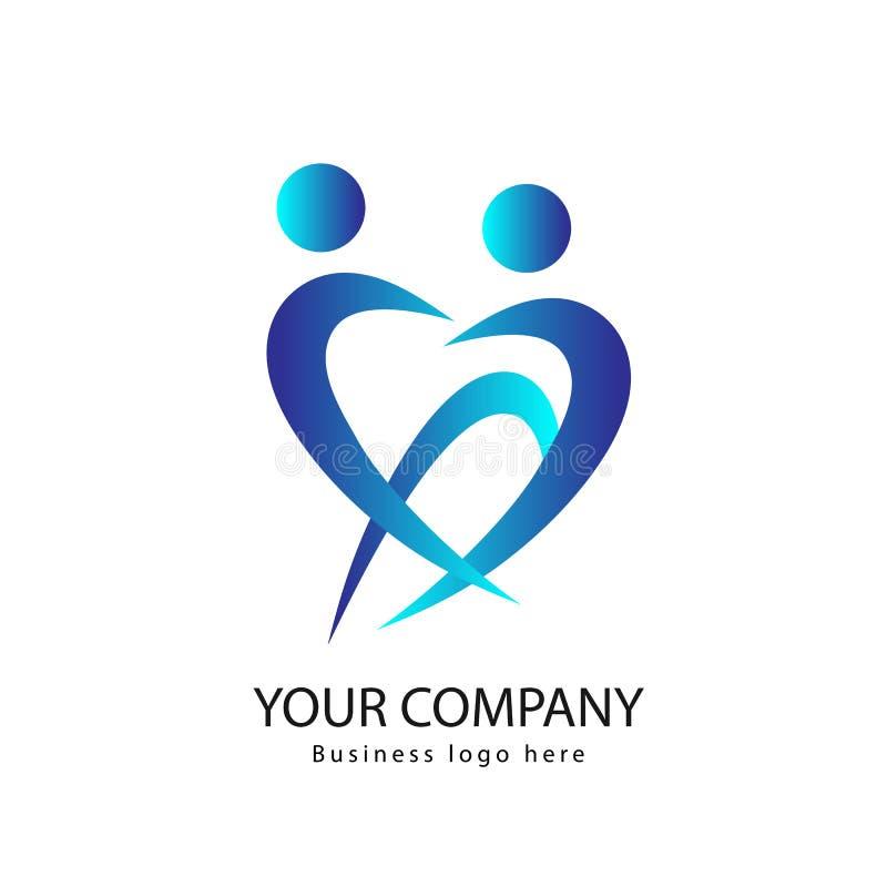 Логотип людей активный совместно иллюстрация штока