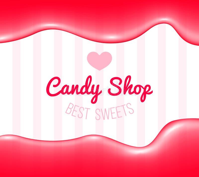 Логотип магазина конфеты иллюстрация штока