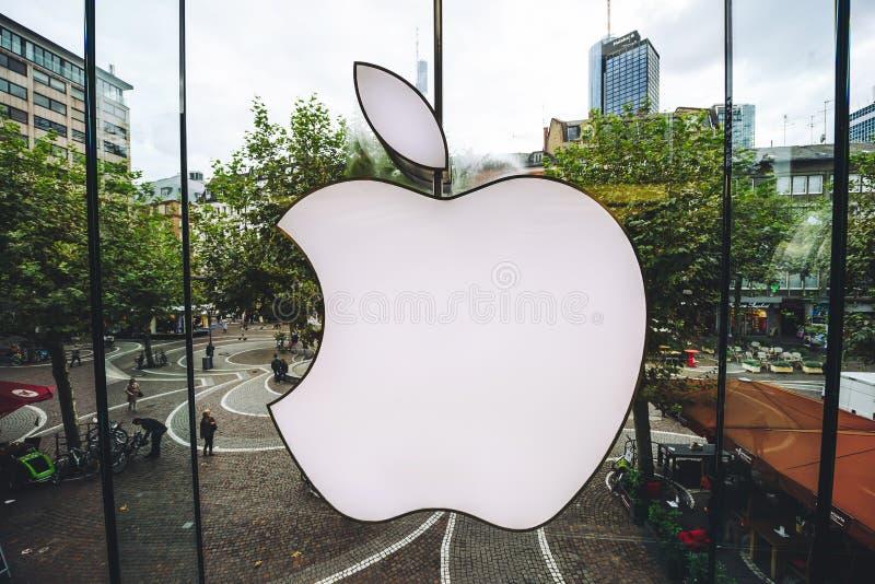 Логотип магазина Яблока стоковые изображения
