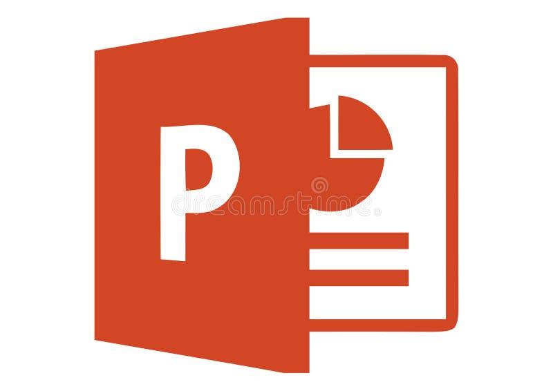 Логотип 2013 Майкрософта PowerPoint иллюстрация вектора