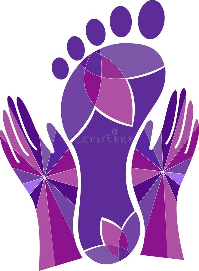 Логотип массажа ноги иллюстрация штока