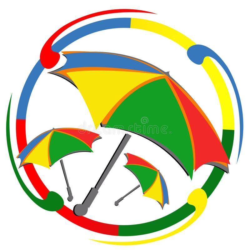 ЛОГОТИП масленицы зонтика иллюстрация вектора