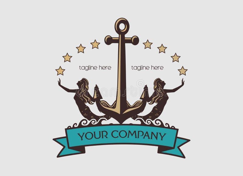 Логотип матроса стоковая фотография rf