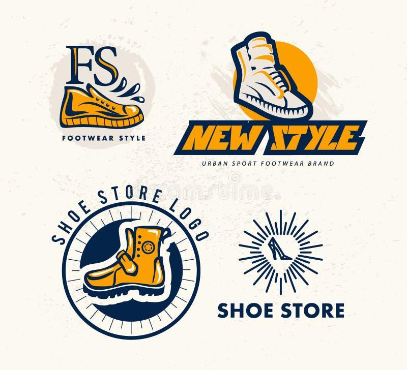 Логотип метки бренда ботинка спорта вектора плоский бесплатная иллюстрация