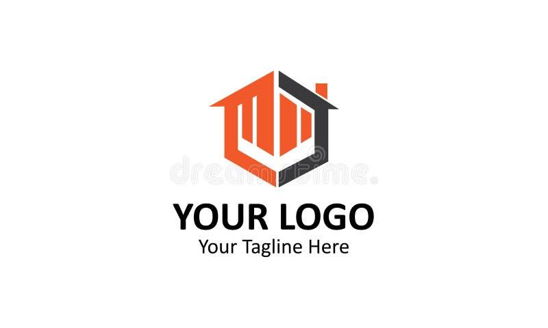 Логотип минималистского здания простой для индустрий бесплатная иллюстрация