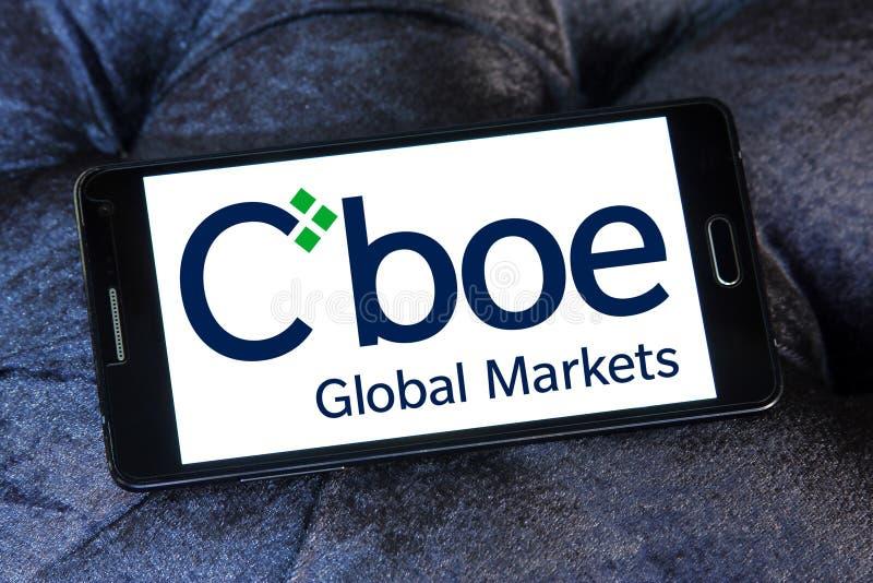 Логотип мировых рынков Cboe стоковые фото