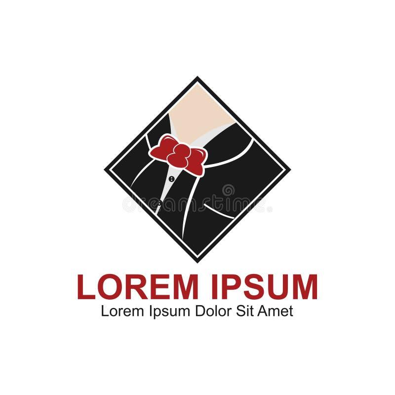 Логотип моды джентльмена иллюстрация штока