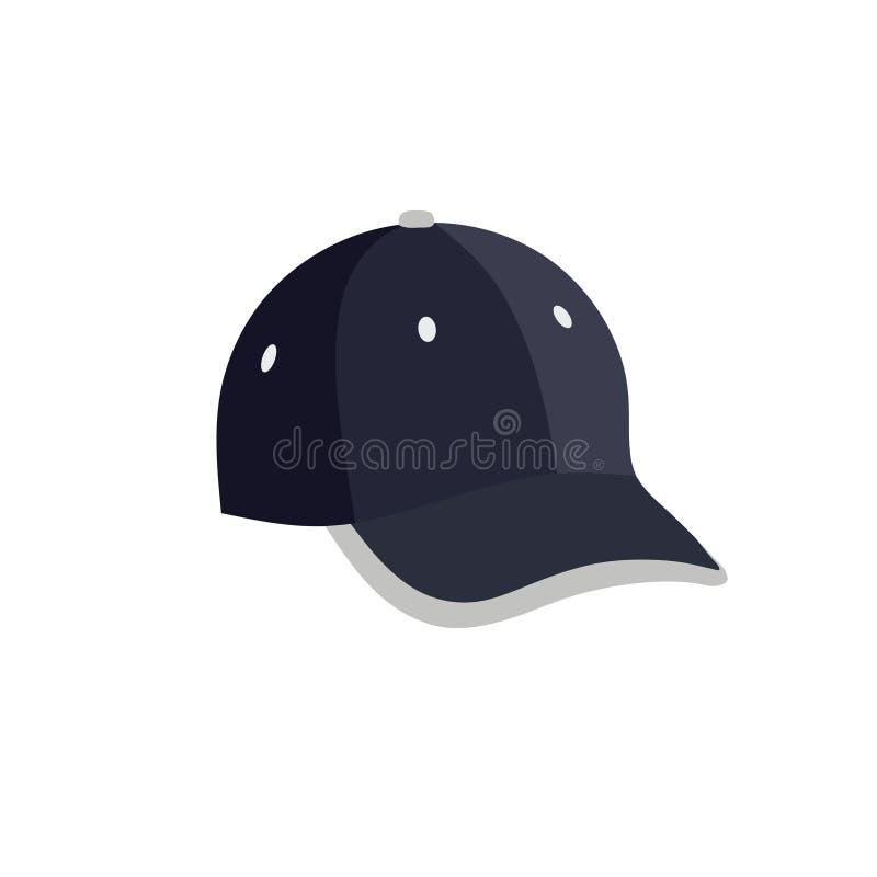 Логотип моды спорта бейсбольной кепки иллюстрация штока