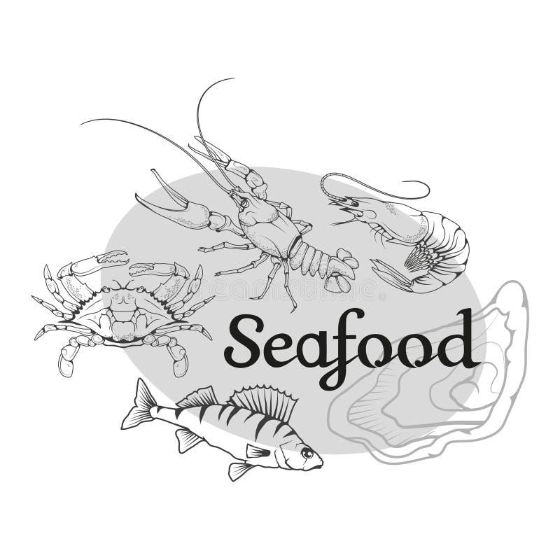Логотип морепродуктов вектора бесплатная иллюстрация