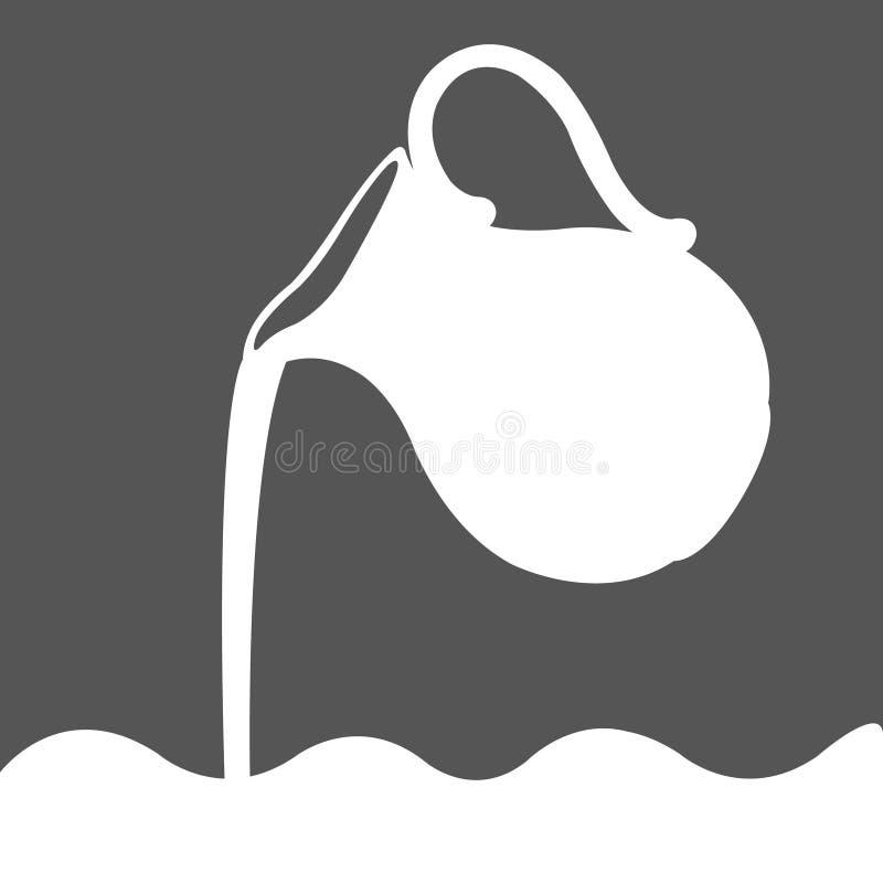 Логотип молока иллюстрация штока