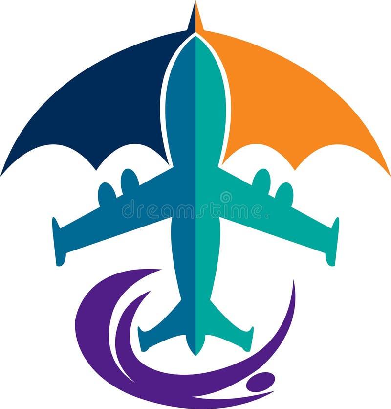 Логотип мухы безопасности иллюстрация вектора