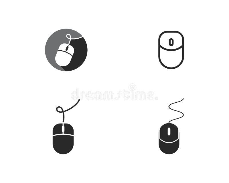 Логотип мыши компьютера иллюстрация вектора