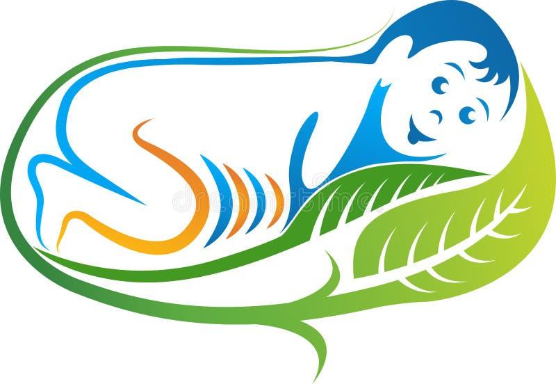 Логотип младенца лист бесплатная иллюстрация