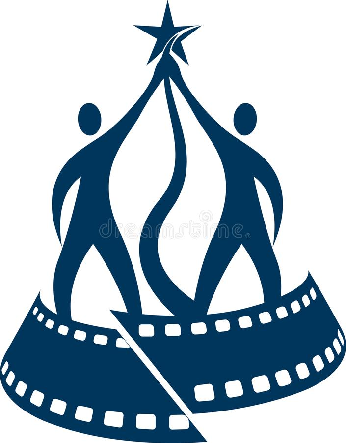 Логотип награды фестиваля фильмов иллюстрация вектора