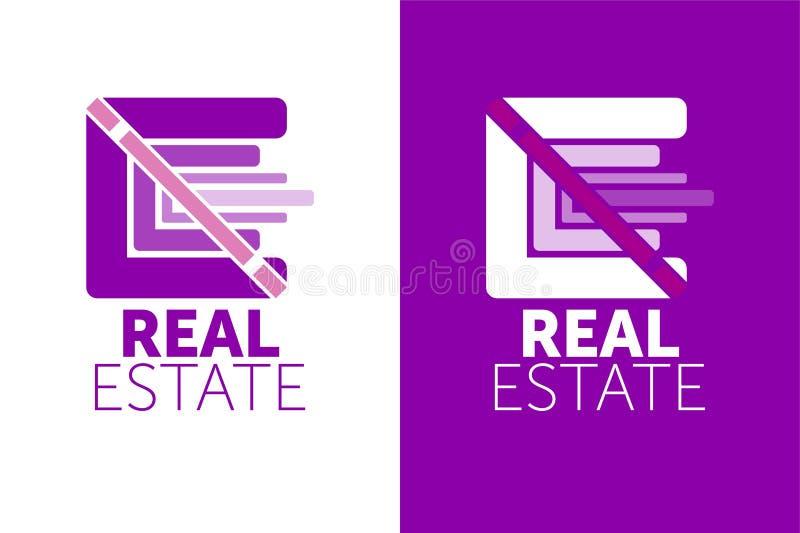 Логотип недвижимости и шаблон значка красочный логотип значок дизайна иллюстрация вектора