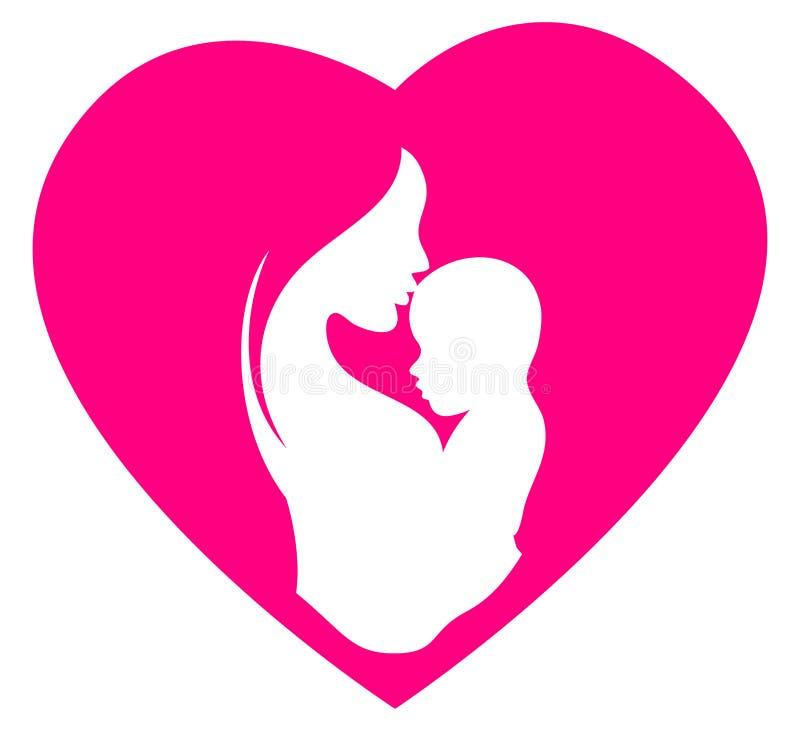 Логотип дня матерей иллюстрация вектора