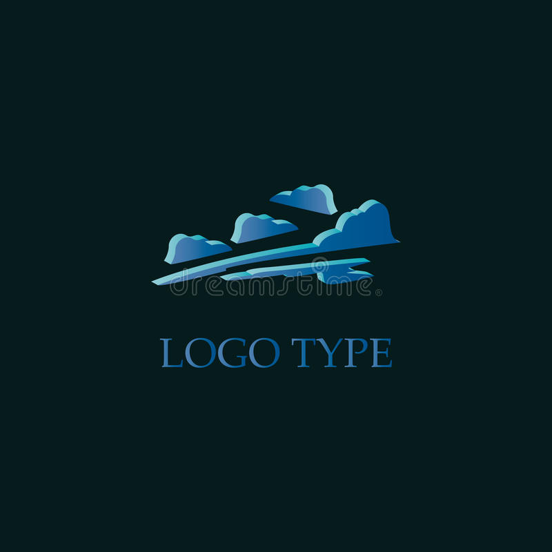 Логотип облака иллюстрация штока