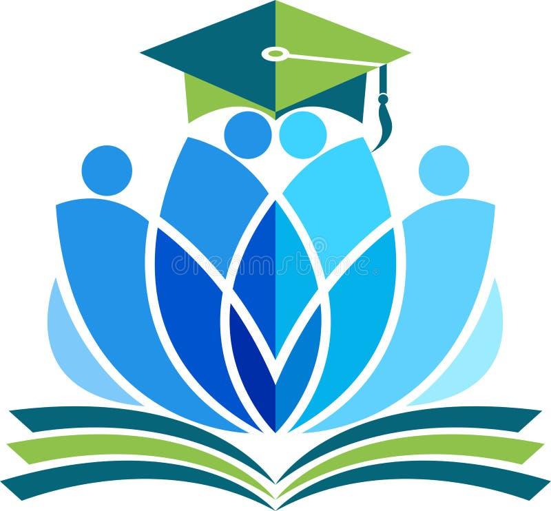 Логотип образования лотоса иллюстрация вектора