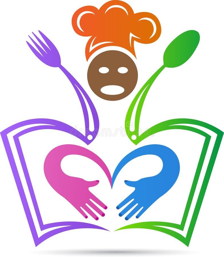 Логотип образования ресторанного обслуживании иллюстрация вектора