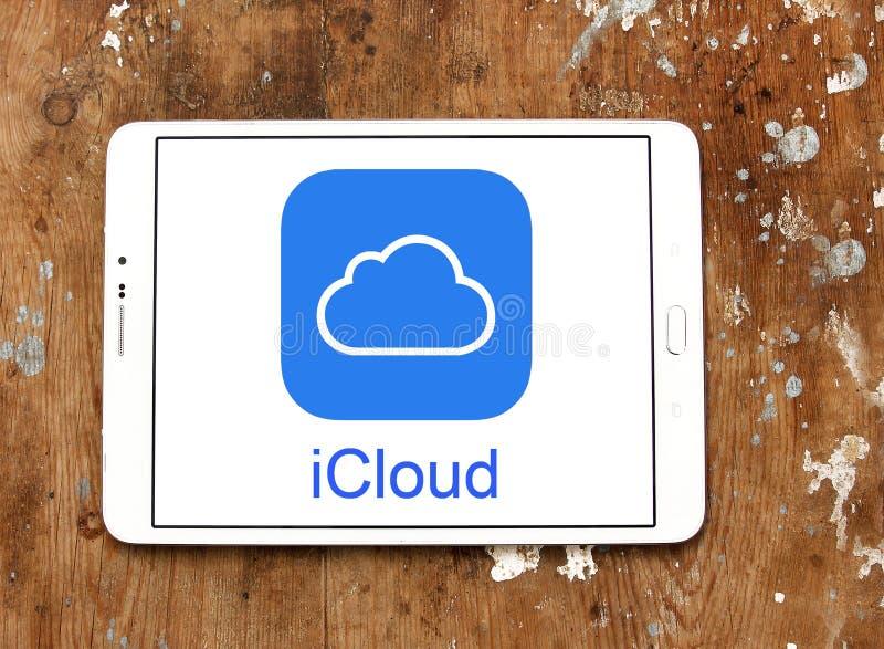 Логотип обслуживания ICloud стоковые фотографии rf