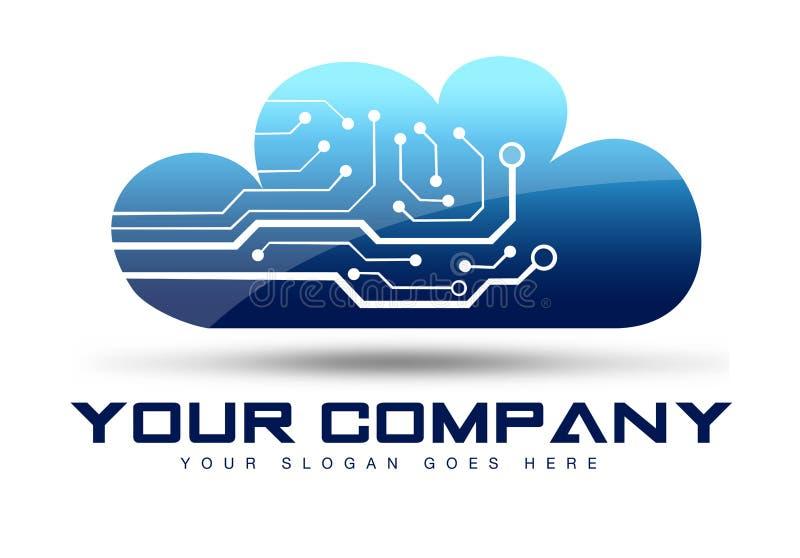 Логотип облака иллюстрация вектора