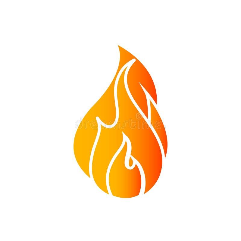 Логотип огня на задней части белизны иллюстрация штока