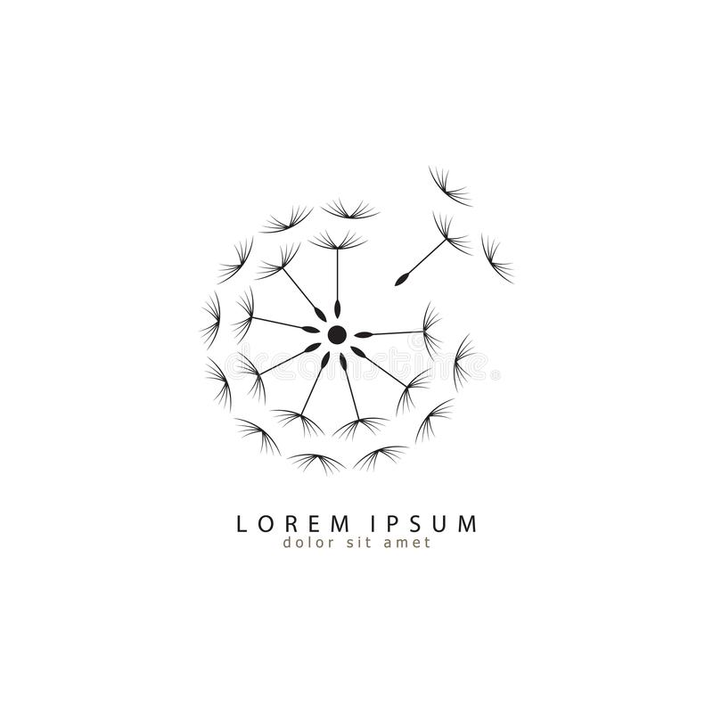 Логотип одуванчика логос самомоднейший иллюстрация eps 10 вектора значка одуванчика иллюстрация вектора