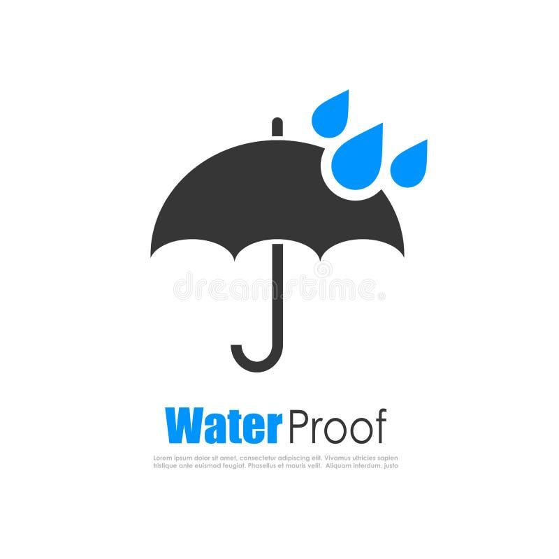Логотип доказательства воды иллюстрация вектора