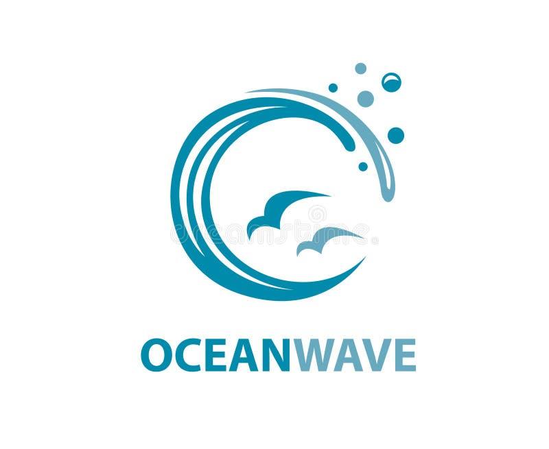 Логотип океанской волны иллюстрация вектора