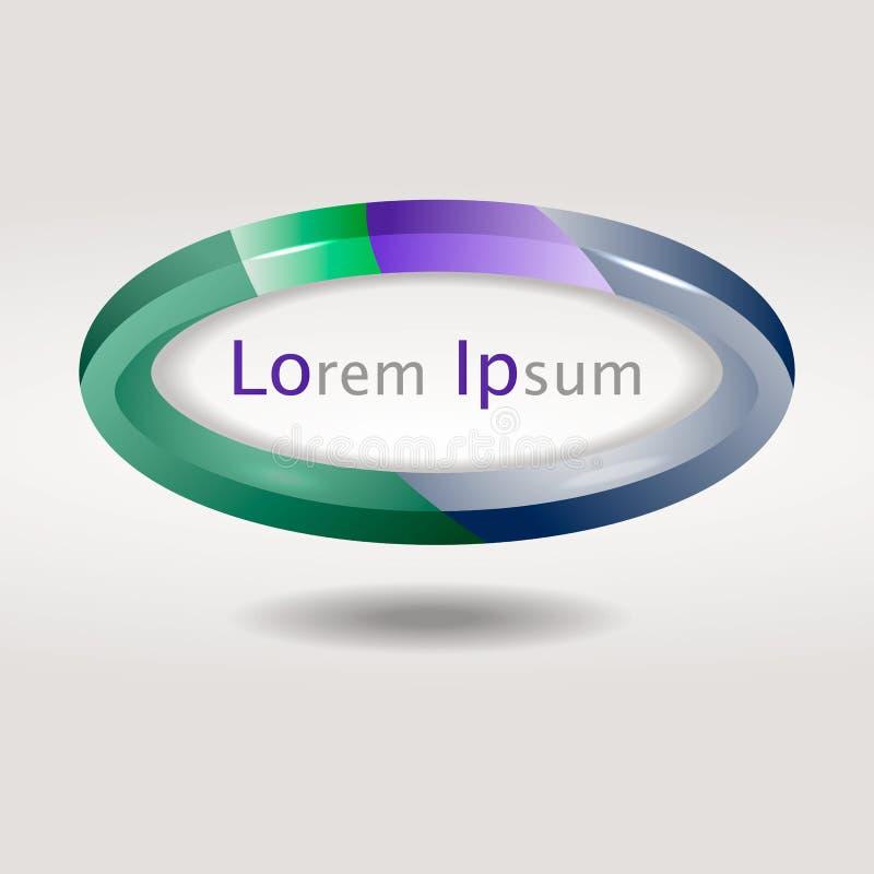 Логотип округлой формы иллюстрация вектора