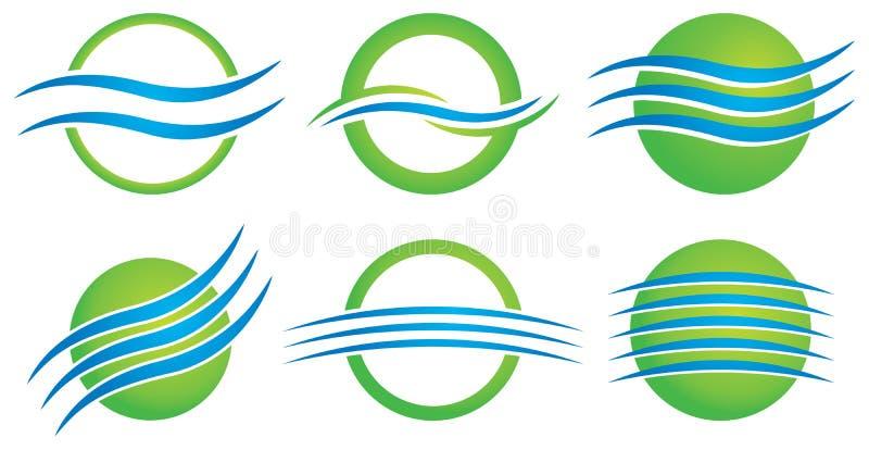 Логотип окружающей среды иллюстрация штока