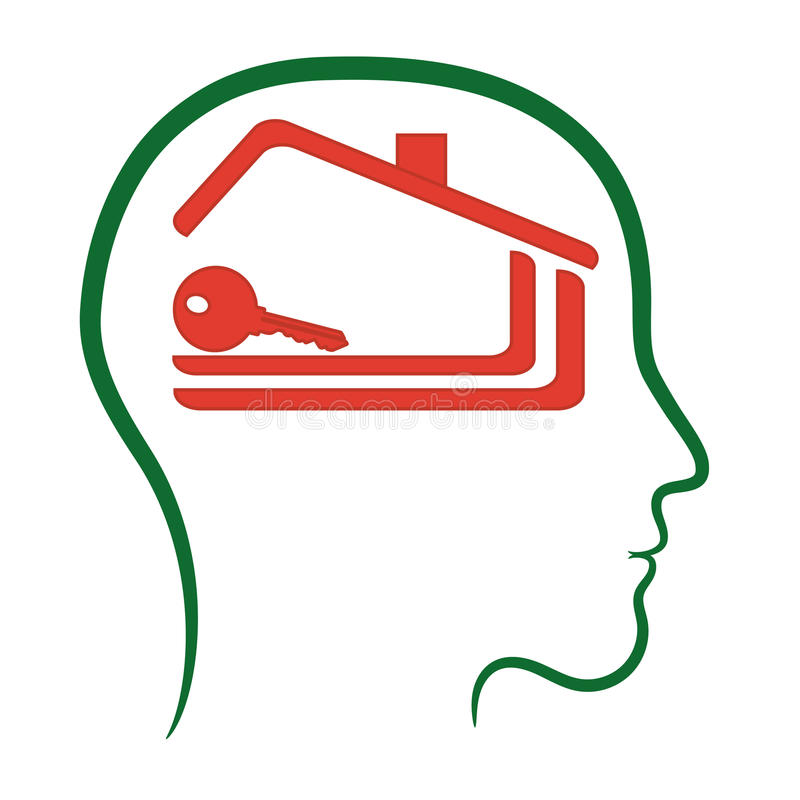 Логотип дома домашний, иллюстрация штока