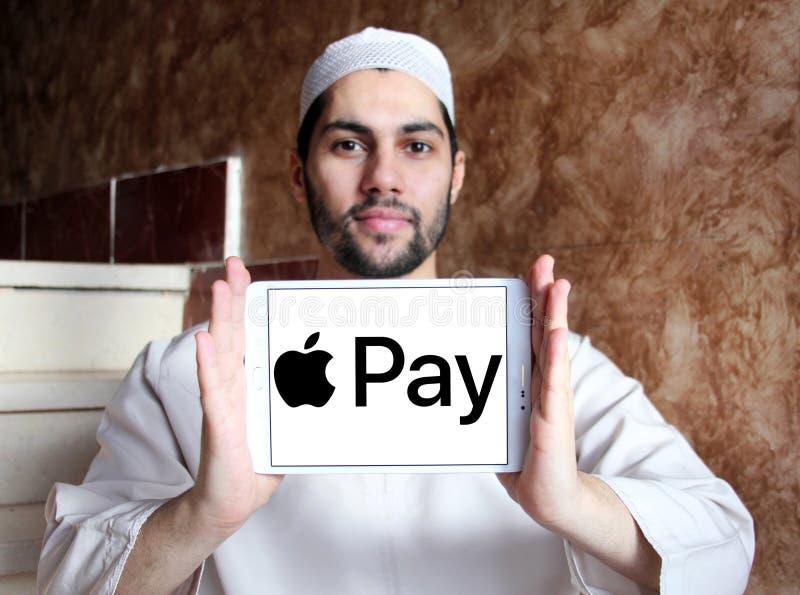 Логотип оплаты Яблока стоковая фотография