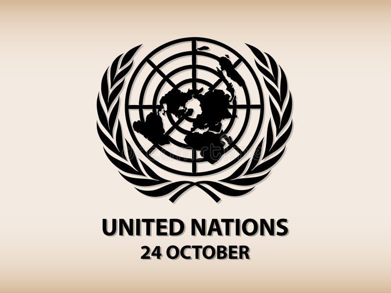 Логотип Организации Объединенных Наций иллюстрация вектора