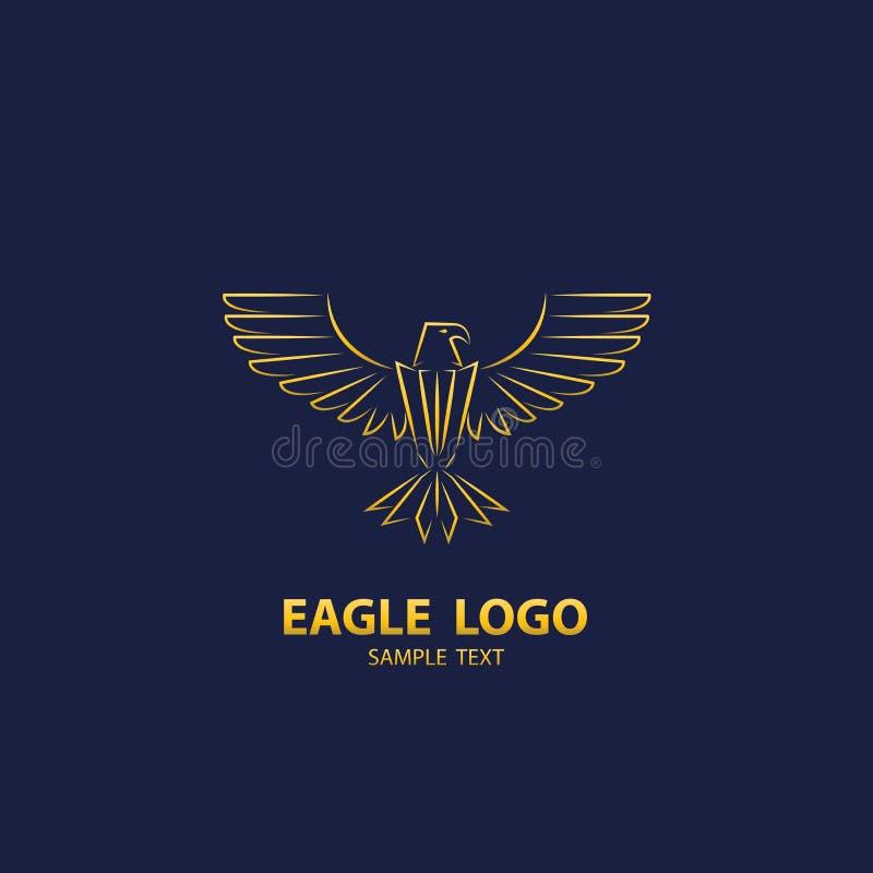 Логотип орла, роскошь дизайна иллюстрация вектора