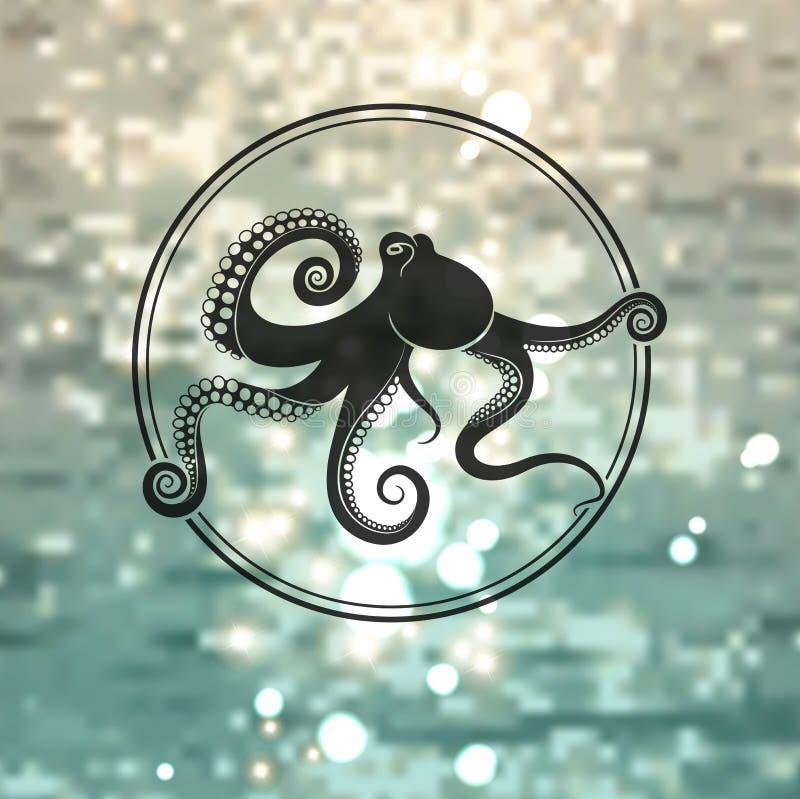 Логотип осьминога иллюстрация вектора